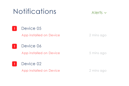 device alerts