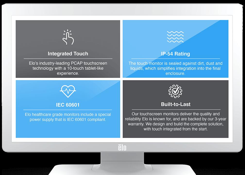 Elo touchscreen monitor for healthcare