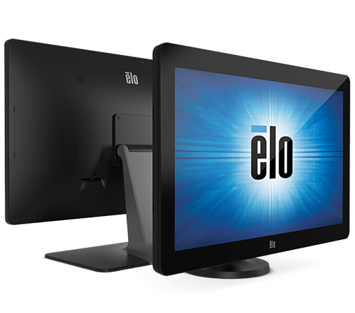 Elo touchscreen monitor in dual monitor configuration